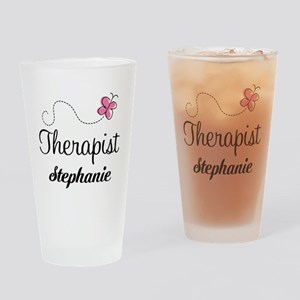 Personalized Therapist Gift Drinking Glass