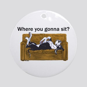 NMtl Where U Gonna Sit? Ornament (Round)