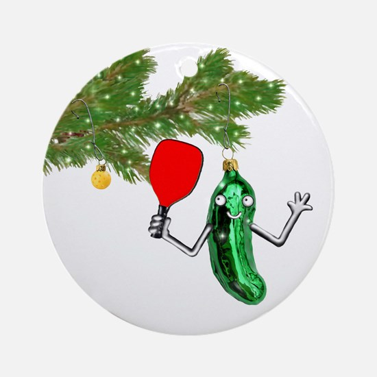 PICKLEBALL HOLIDAY GIFTS Round Ornament
