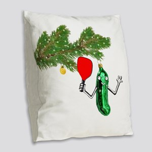PICKLEBALL HOLIDAY GIFTS Burlap Throw Pillow