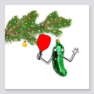 "PICKLEBALL HOLIDAY GIFTS Square Car Magnet 3"" x 3"""