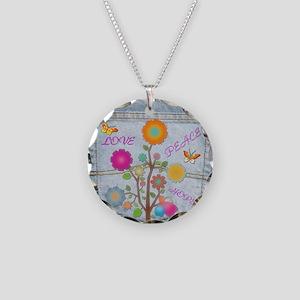 Denim Pocket Peace Love Hope Necklace