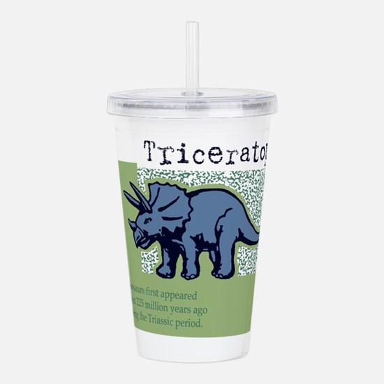 Triceratops Acrylic Double-wall Tumbler