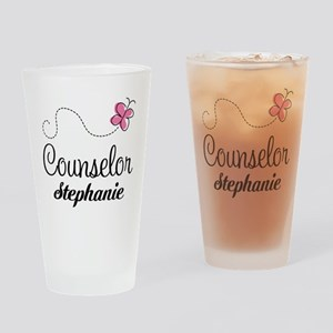Personalized Counselor Gift Drinking Glass