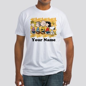 Peanuts Walking Personalized Fitted T-Shirt