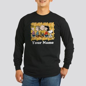 Peanuts Walking Personali Long Sleeve Dark T-Shirt