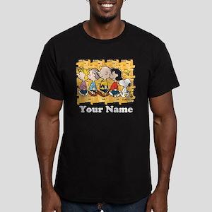 Peanuts Walking Person Men's Fitted T-Shirt (dark)