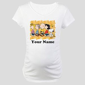 Peanuts Walking Personalized Maternity T-Shirt