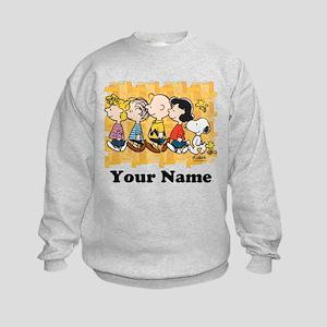Peanuts Walking Personalized Kids Sweatshirt