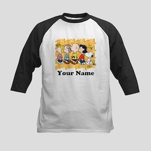 Peanuts Walking Personalized Kids Baseball Jersey
