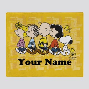 ffc6523eb3 Peanuts Walking Personalized Throw Blanket