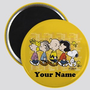 Peanuts Walking Personalized Magnet