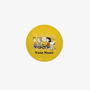 Peanuts Walking Personalized Mini Button