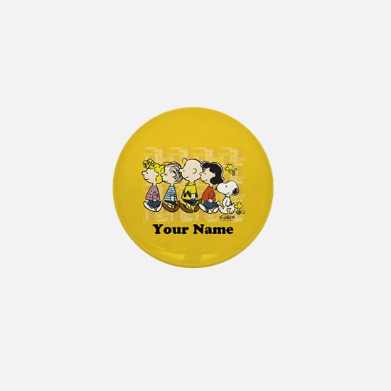 Peanuts Walking Personalized Mini Button