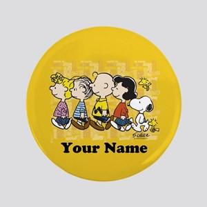 Peanuts Walking Personalized Button
