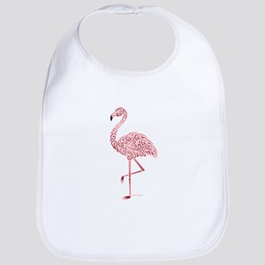 Funky Tribal Flamingo Baby Bib