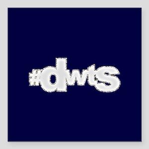 "Glitter #DWTS Square Car Magnet 3"" x 3"""