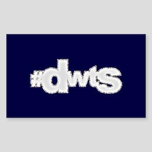 Glitter #DWTS Sticker (Rectangle)