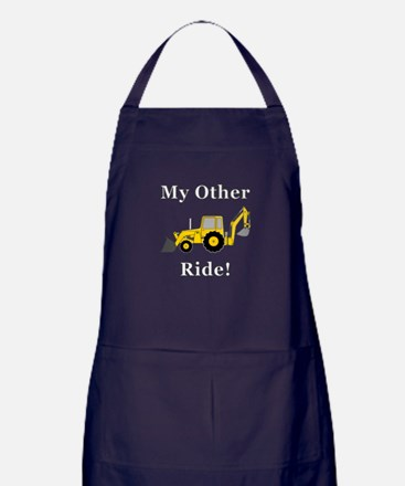 Backhoe My Other Ride Apron (dark)