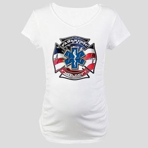 American Flag Paramedic, Maltese Maternity T-Shirt