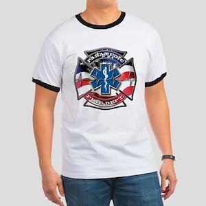 American Flag Paramedic, Maltese & Star T-Shirt