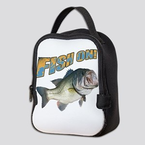 Fish on Bass color Neoprene Lunch Bag