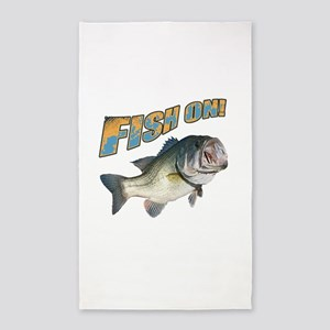 Fish on Bass color Area Rug