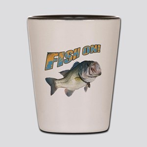 Fish on Bass color Shot Glass