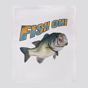Fish on Bass color Throw Blanket