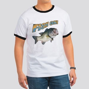 Fish on Bass color Ringer T