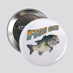 "Fish on Bass color 2.25"" Button"