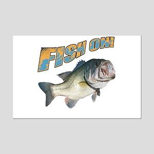 Fish on Bass color Mini Poster Print