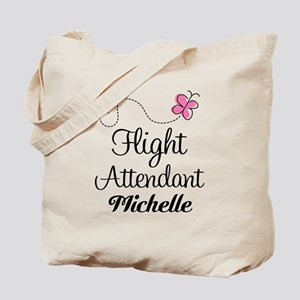 Personalized Flight Attendant Tote Bag