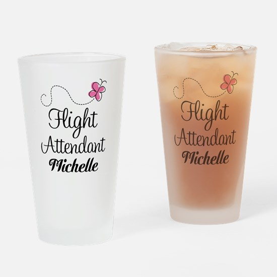 Personalized Flight Attendant Drinking Glass