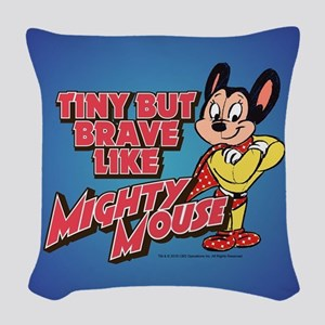 Tiny But Brave Woven Throw Pillow