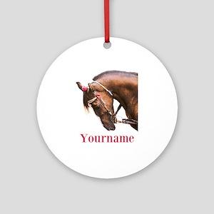 Horse (p) Round Ornament