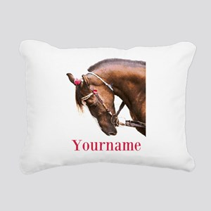Horse (p) Rectangular Canvas Pillow