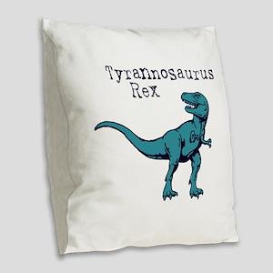Tyrannosaurus Rex Burlap Throw Pillow