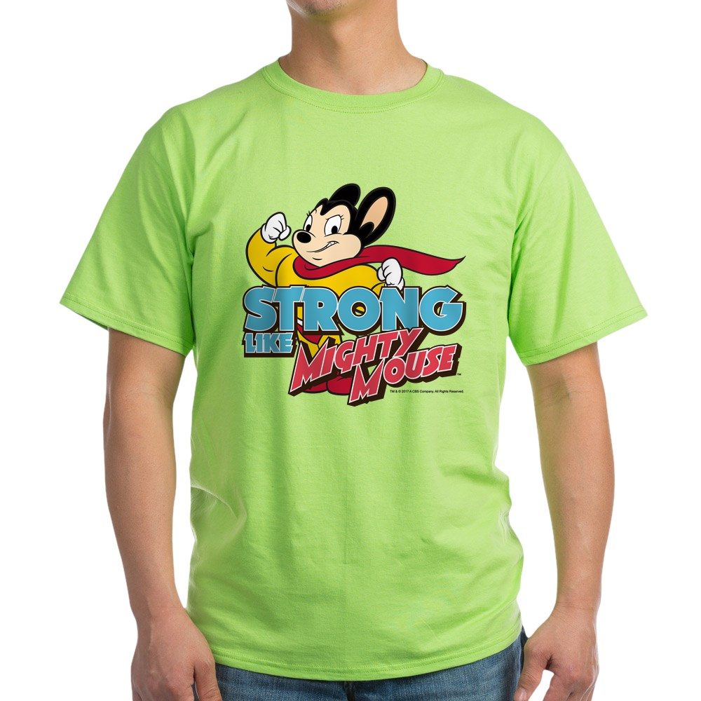 CafePress-Strong-Mighty-Mouse-Light-T-Shirt-100-Cotton-T-Shirt-2027487099 thumbnail 56