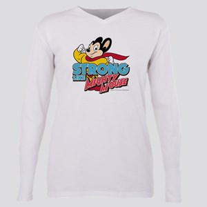 Strong Mighty Mouse Plus Size Long Sleeve Tee