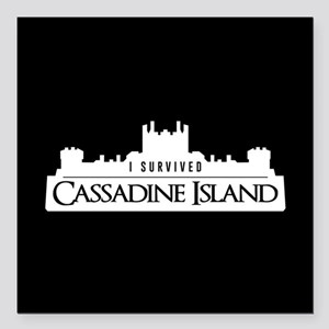 "Cassadine Island Square Car Magnet 3"" x 3"""
