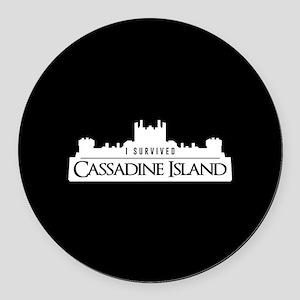 Cassadine Island Round Car Magnet