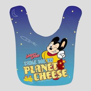 Take Me To Planet Cheese Polyester Baby Bib