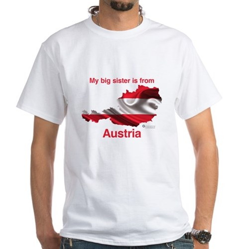 My Big Sister - Austria - Light White T-Shirt