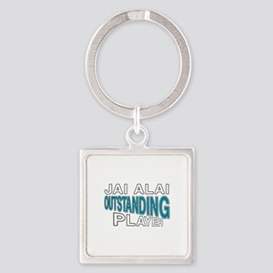 Jai Alai Outstanding Player Square Keychain