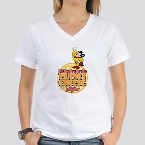 Rather Be on Planet Cheese Women's V-Neck T-Shirt