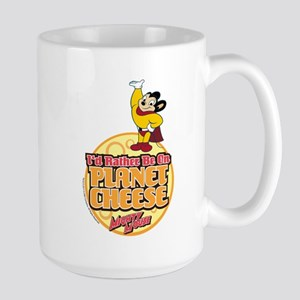 Rather Be on Planet Cheese Large Mug