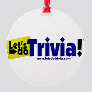 Lets Do Trivia Logo FULL 3d Ornament