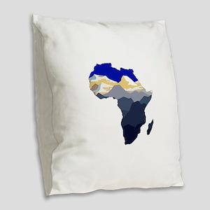 AFRICA Burlap Throw Pillow