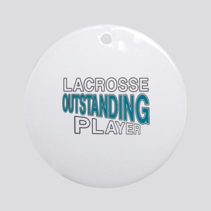 Lacrosse Outstanding Player Round Ornament